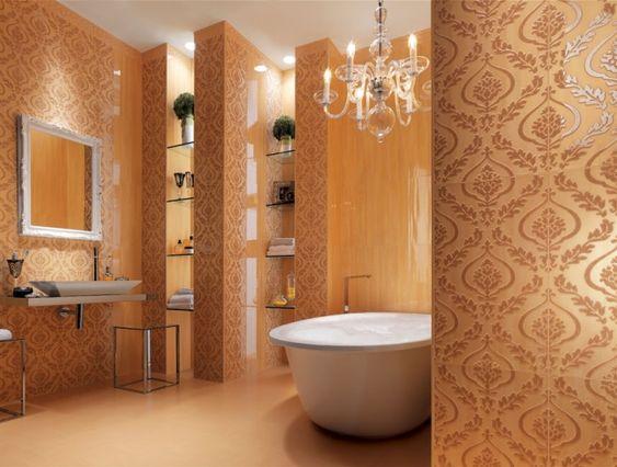 Cielo Italienische Wandfliesen Dekorative Muster Renaissance Bad Fliesen Designs Modernes Badezimmerdesign Italienisches Badezimmer