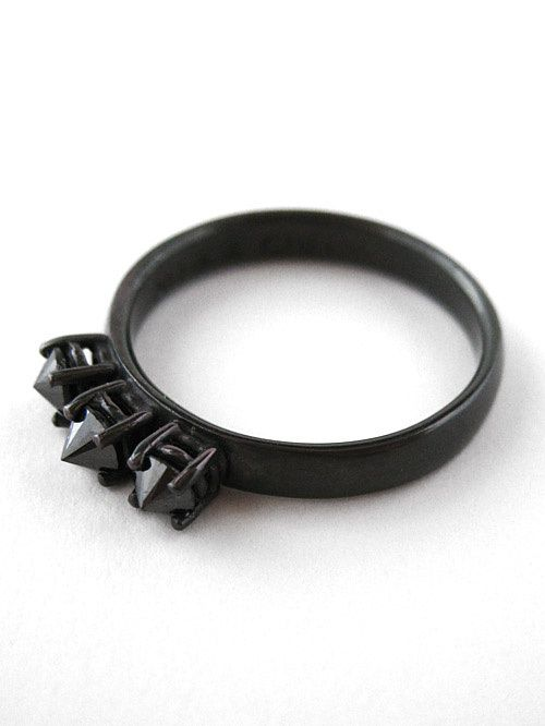 #halloween #wedding #forthebride #black #ring