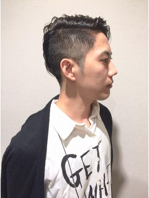 ヘアーデザイン シュシュ Hair Design Chou Chou By Yone Chouchou ソフトモヒカン ツーブロック アシンメトリー メンズ ヘアスタイル ヘアーデザイン メンズヘアカット