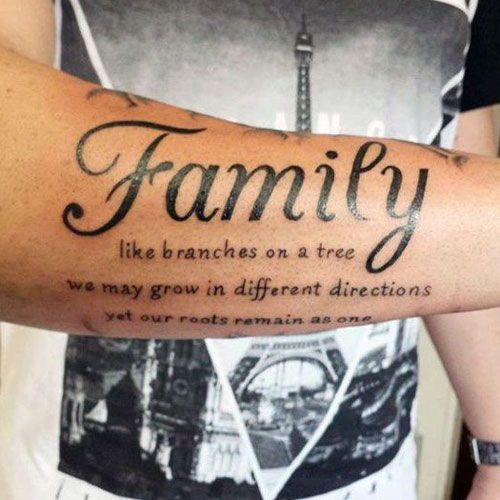 125 Best Forearm Tattoos For Men Family Quotes Tattoos Family
