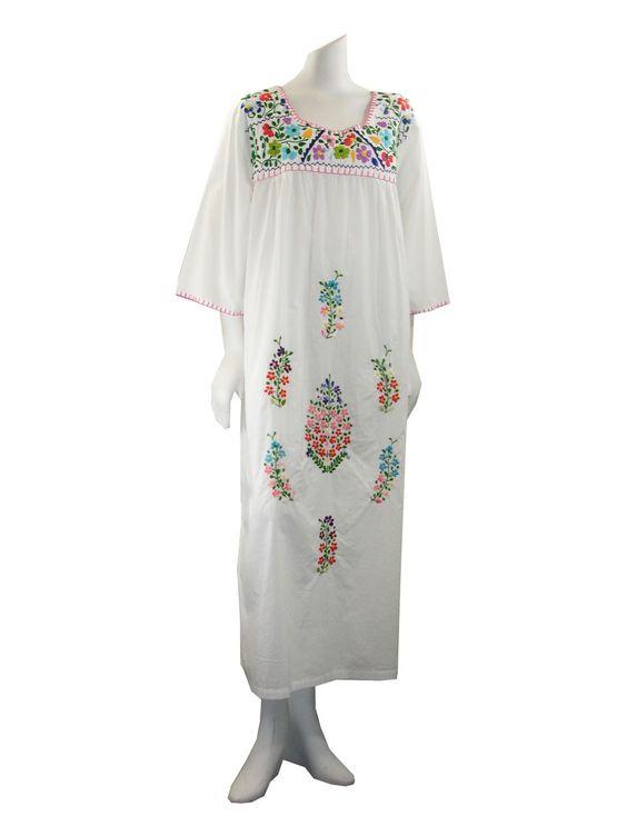 La Cera Plus Size White Embroidered Dress 120 The Essentials