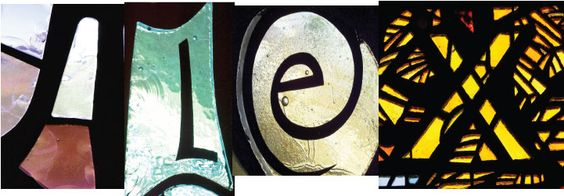 letters alex stained glass