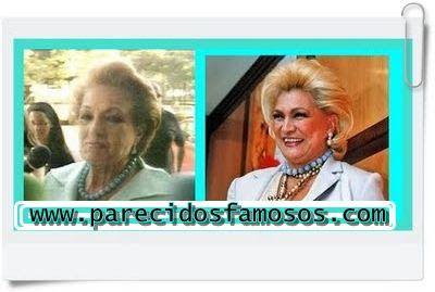 Parecidos con famosos: Carmen Sevilla con Hebe Camargo presentadora Brasi...