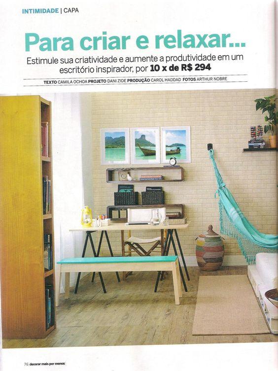 A Decorar traz na capa os módulos de parede Sintonia na cor expresso e também a estante Nativa, da MMM.  http://www.meumoveldemadeira.com.br/produto/modulo-de-parede-sintonia-ii-expresso  http://www.meumoveldemadeira.com.br/moveis/estantes/estante-3-prateleiras-nativa-cerezo