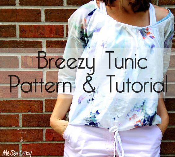 Me Sew Crazy: Womens Breezy Tunic {Pattern & Tutorial}...