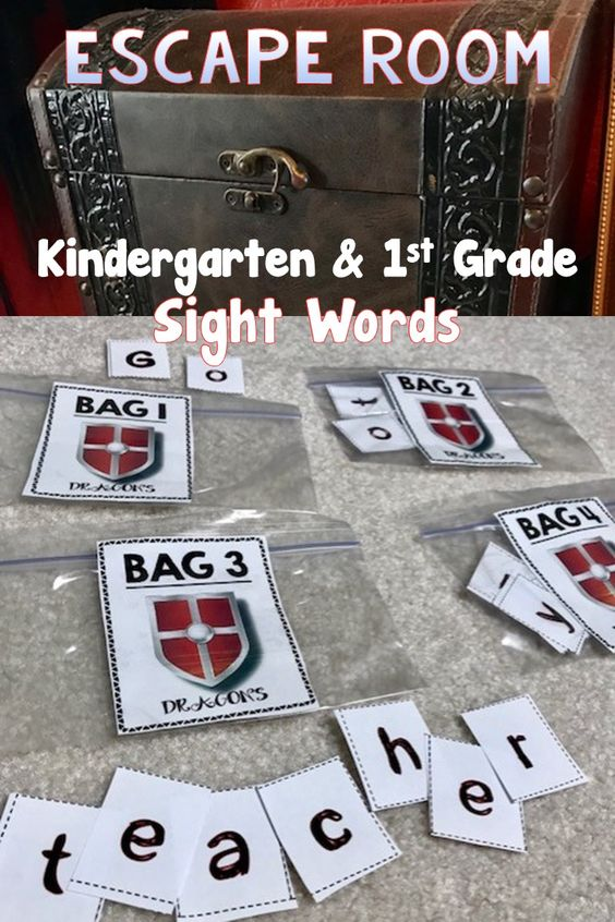 Be that teacher every student remembers because their lesson plans were so engaging with this Escape Room for K-1 focusing on Sight Words.