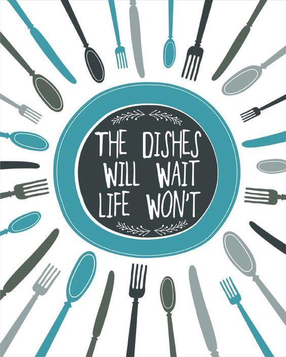 kitchen art print kitchen wall decor digital print blue typography kitchen quote wall art - Kitchen Wall Decor