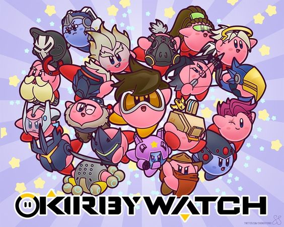 Anime Characters Kirby Wiki : Kirby as overwatch characters video game art