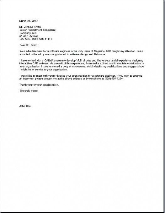 Cover Letter Template Short With Images Cover Letter Template