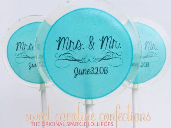 Wedding Favors Personalized Candy Lollipop by SweetCarolineConfect