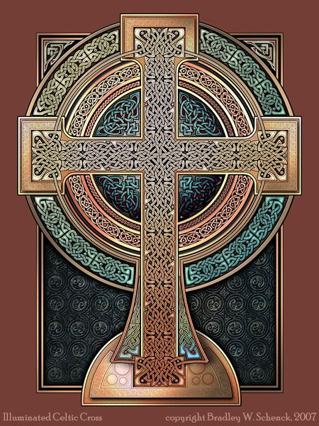 illuminated celtic cross