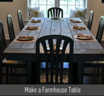 Make your own farm table: Dining Room, Dining Table, Diy Table, Kitchen Table, Diy Farmhouse Table