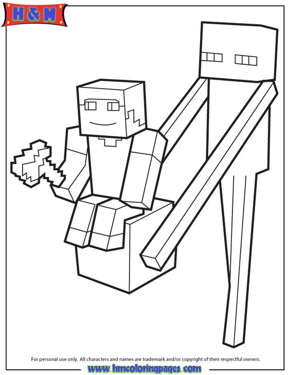 free minecraft coloring pages steve - photo#40