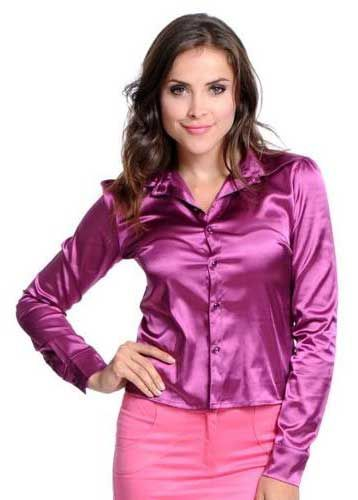 Атласная блузка