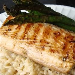An olive-oil marinade with black pepper, cayenne pepper, fresh garlic, and lime imparts loads of flavor to mahi mahi in this recipe.