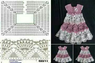 Dress child crochet pattern: