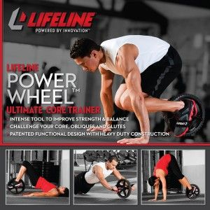 Honest Lifeline Power Wheel Review - Is It the Best Ab Roller? http://abmachinesguide.com/lifeline-power-wheel-review/