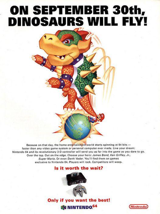 Anúncio Super Márioa, Nintendo 64. década de 90