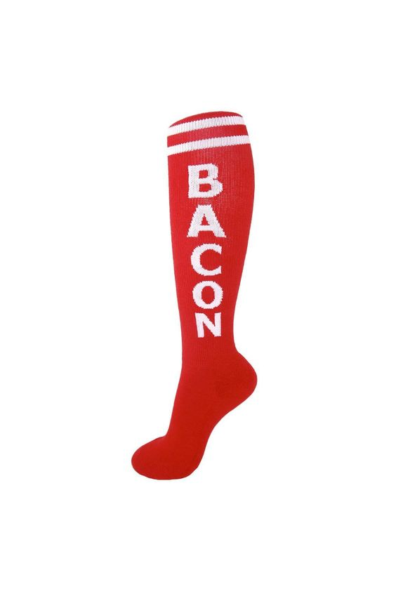 Unisex knee high socks with a cushioned foot-bed. Let your legs do the talking with the original statement socks!  Bacon Socks by Gumball Poodle. Accessories - Socks Pennsylvania