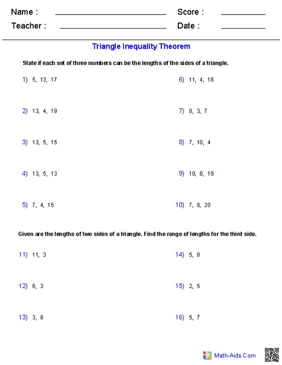 Worksheets Triangle Inequality Practice Worksheet the triangle inequality theorem worksheets ideas for house worksheets