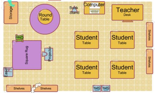 I had no idea that there was an online program to help you design your classroom space.  The tool is here: http://classroom.4teachers.org/.