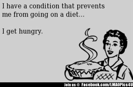 Going on a diet is not an option