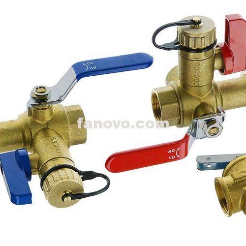 3 4 Npt Isolator Tankless Water Heater Valve Kit With Pressure Relief Valve Water Heater Brass Ball Valve In 2020