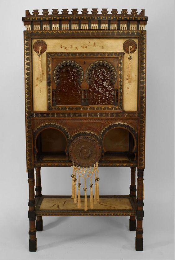 Art Deco French cabinet/case-piece cabinet parchment