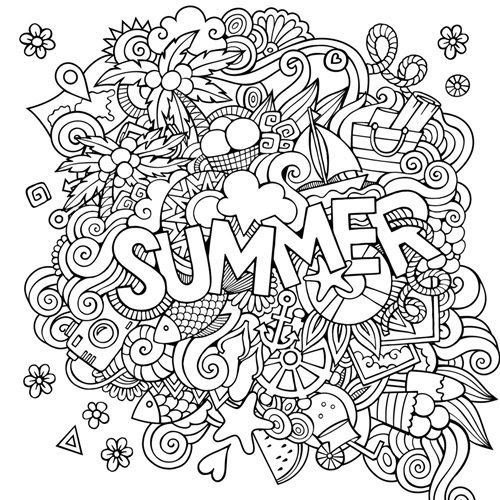 Summer Summer Coloring Pages Coloring Canvas Coloring Pages