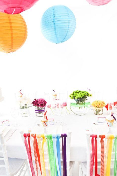 Idée pour votre mariage coloré Rainbow wedding idea