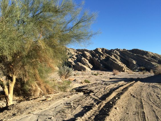 Box Canyon Drive out of Mecca, California. Fascinating rock formations.
