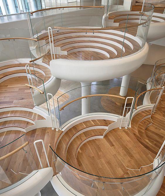 Stairs architecture, Stairs design, Interior architecture design, Office interior design, Staircase design, Innovative architecture - Hyundai Museum of Kids Books & Art - #Stairsarchitecture