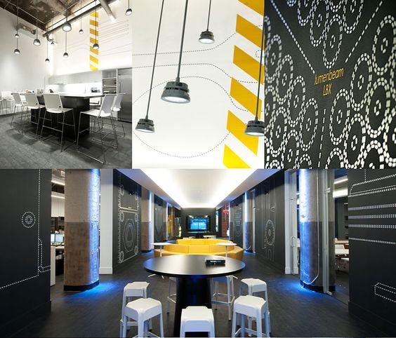 Design commercial des bureaux de Lumenpulse | Champigny 2