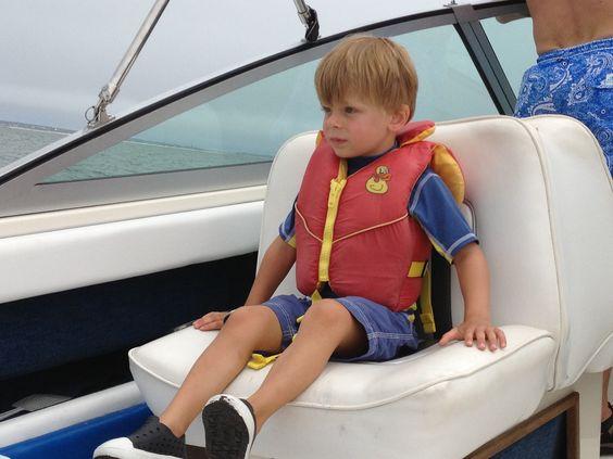 Ryan loving the boat ride :-)