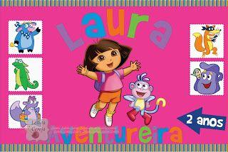Lollita Cereja: Lembrancinha personalizada Dora Aventureira