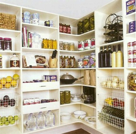Deep enough with baskets and draws..Pantry