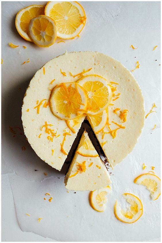 Meyer Lemon Cheesecake - Wood & Spoon