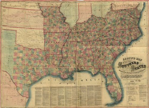 Civil War Map Lloyd's map of the southern states showing all the railroads, their stations & distances, also the by Vintage Reprints