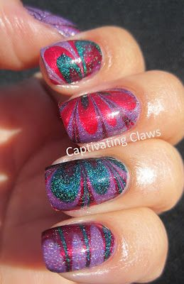 Captivating Claws: Weekly Water Marble 8/30/12 a england