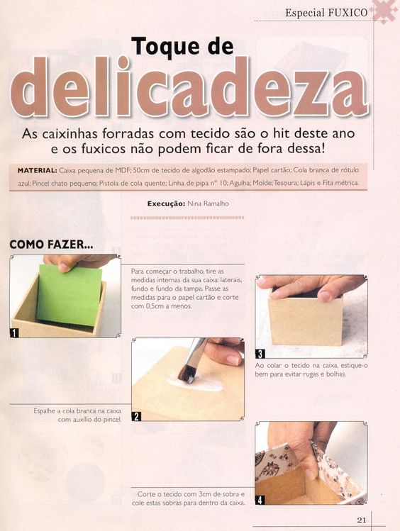 Postando Sobre Artes: pap / tutorial como forrar caixa mdf com tecido