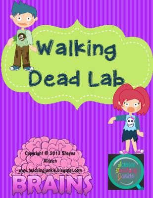 Walking Dead Lab (An Exploration of Speed, Velocity & Acceleration) TeachersNotebook.com -  similar to speed lab