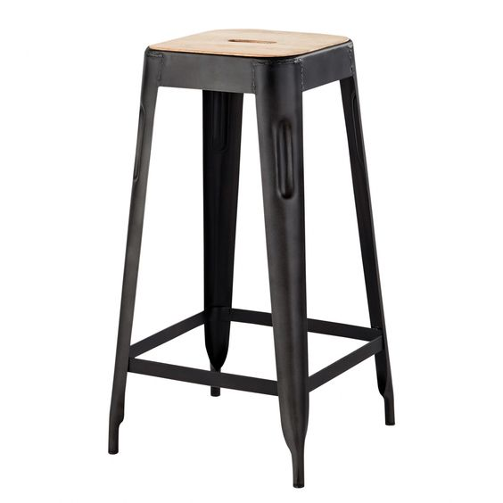 tabouret de bar industriel maison du monde. Black Bedroom Furniture Sets. Home Design Ideas