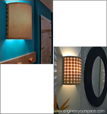 How to make a DIY wall lamp/sconce with customizable shades DIY Lighting Pinterest ...
