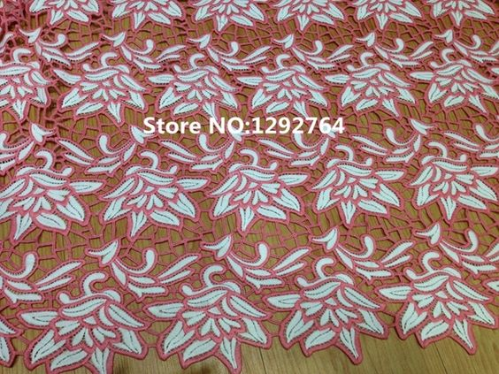 Free shipping! Wholesale price  5 yards High quality   beautifully finished fabric , unique Chemical / Cupion lace design TS771