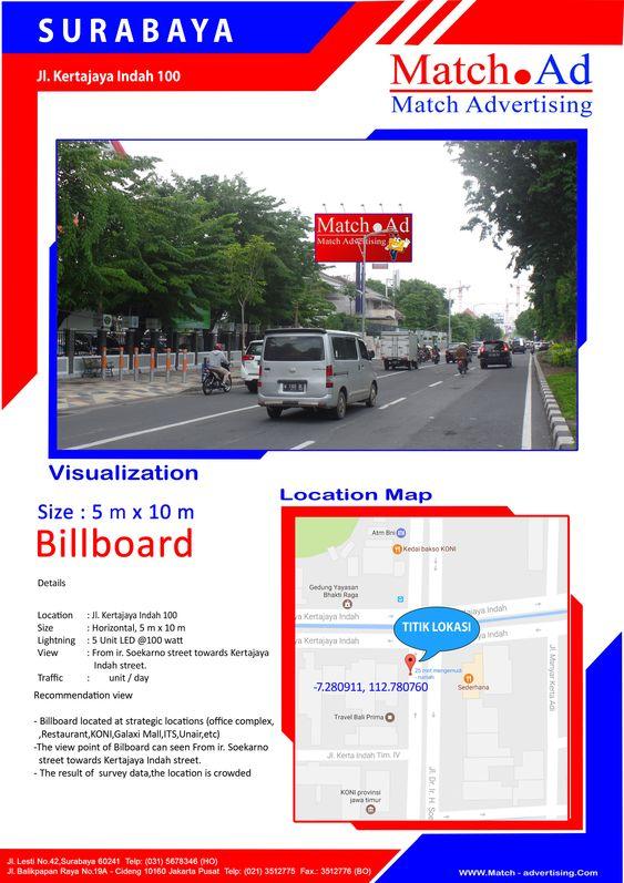 Surabaya Timur, Jl. Kertajaya Indah Timur 100 (Front Side) - Billboard 5x10