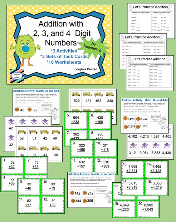 Number Names Worksheets : four digit addition with regrouping Four ...