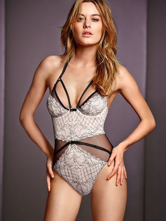 A tempting teddy in sexy lace & mesh. // Victoria's Secret Limited Edition Teddy