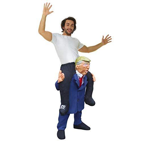 Mann auf Trump M//L Hucke Pack  Präsident Wilbers Gr Huckepack Kostüm