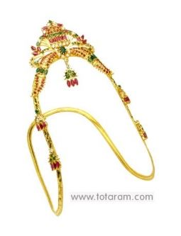 Buy 22K Gold Arm Vanki - ARMV007 with a list price of $2,444.99 - 22K Indian Gold Jewelry from Totaram Jewelers