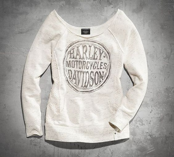 Women's Lace Accents Long-Sleeve Shirt | Black Label | Official Harley-Davidson Online Store